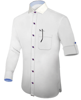iTailor Buy Shirts Online In Italy with 1 Button Round Cuff.