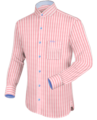 Dress shirts with different colour collar for Different types of dress shirt collars