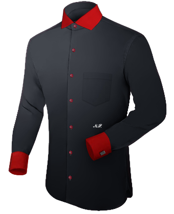 Dress Shirt With Different Color Collar