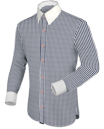 Mens White Shirt With Colour Buttons