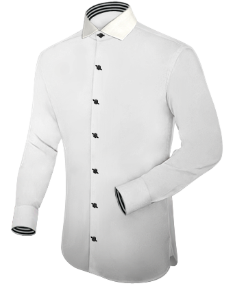 Mens White Fitted Shirt