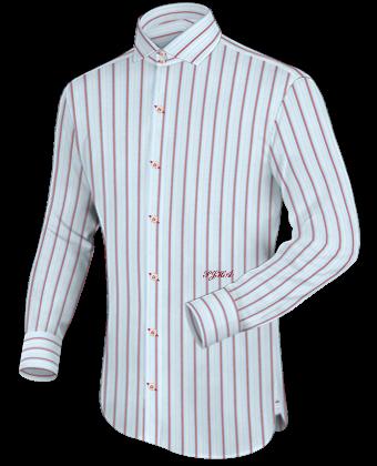 Pink Dress Shirt White Collar And Cuffs
