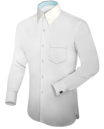 White Collar Button Down Shirt | Is Shirt