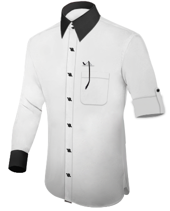 White Shirt With Black Buttons Online | Artee Shirt