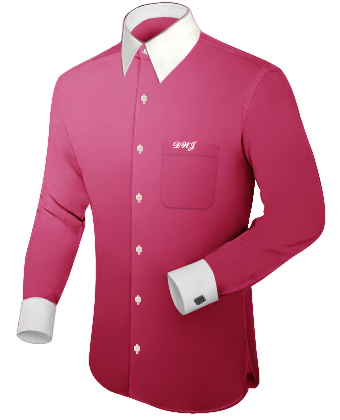 Mens Shirts Online with French Collar 1 Button