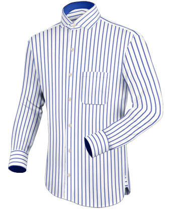 Wild Dress Shirts Men with Italian Collar 1 Button