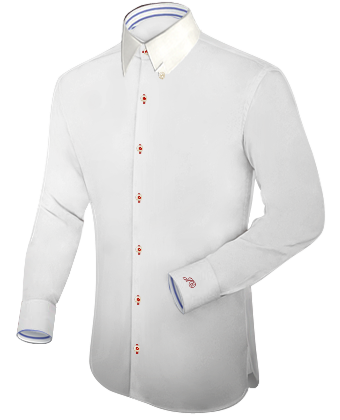 Mens Ivory And Silver French Cut Dress Shirt With Matching