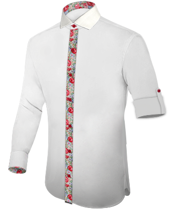 Mens Formal Shirts with Italian Collar 1 Button
