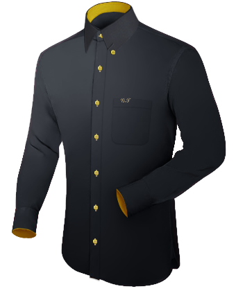 Victorian Wing Collar Shirt Slim Fit with Hidden Button