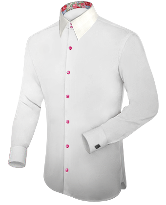 White Shirt With Red Buttons