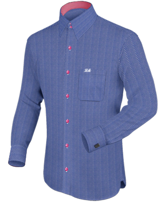 Broadcloth Dress Shirts with French Collar 2 Button