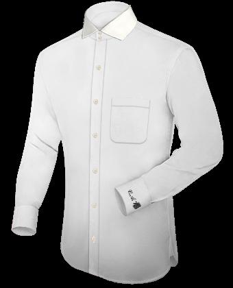 High Wing Collar Shirt with Italian Collar 2 Button