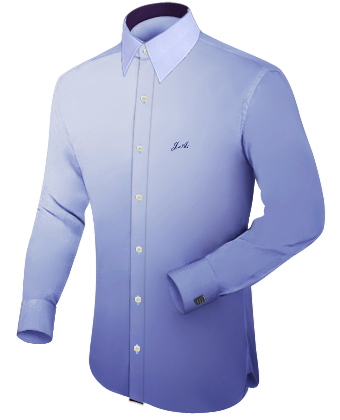 Shirts Button Down Collar Self Colour Polester Cotton with French Collar 1 Button