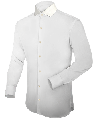 Mens Hand Made Shirts with Italian Collar 1 Button