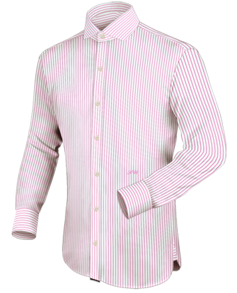 Slim Fit Dress Shirts with Italian Collar 1 Button