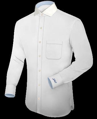 Mens Custom Shirts with Italian Collar 1 Button