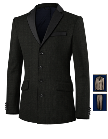 Made To Measure Suits with 4 Buttons, Single Breasted