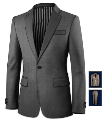 Shiny Black Mens Suit Sales with 1 Button, Single Breasted