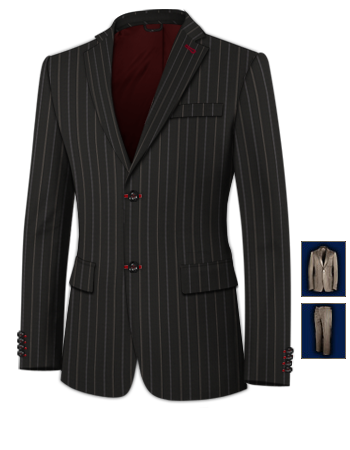 Cheap Suits with 2 Buttons, Single Breasted