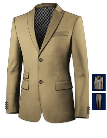 Mens Wedding Suits with 2 Buttons, Single Breasted