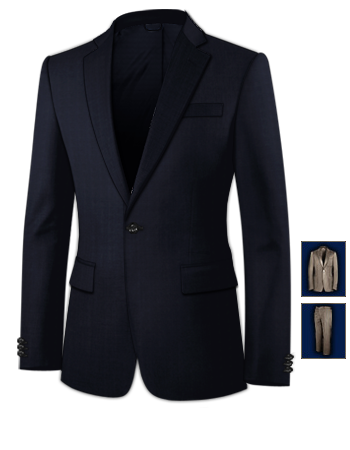 Wedding Suits with 1 Button, Single Breasted