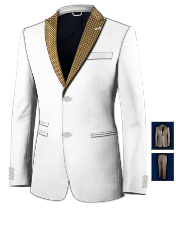 Wedding Mens Suits Brown And Gold
