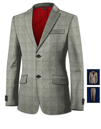 Cheap Custom Suits with 2 Buttons, Single Breasted