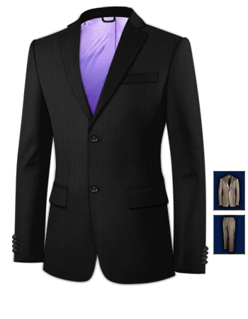 Suits For Men For Weddings with 2 Buttons, Single Breasted