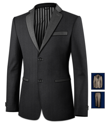 Skinny Suits For Men with 2 Buttons, Single Breasted