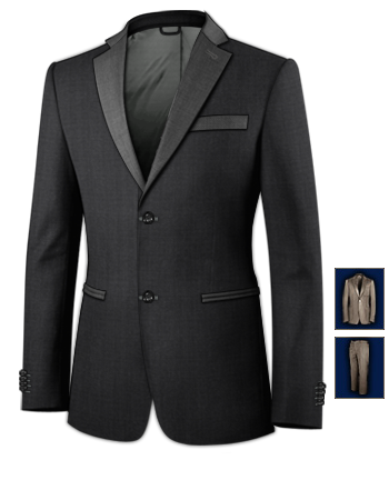 Clearance Suits For Men London with 2 Buttons, Single Breasted