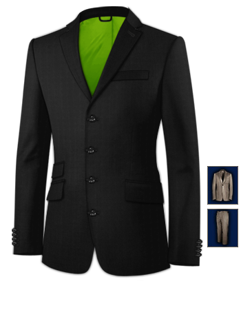 Suits For Men Dublin with 4 Buttons, Single Breasted