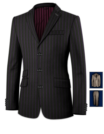 Tight Fitted Suit with 3 Buttons, Single Breasted