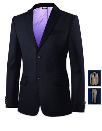 Dark Grey Suit with 2 Buttons, Single Breasted