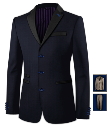 Tailor Made Suits Uk with 3 Buttons, Single Breasted