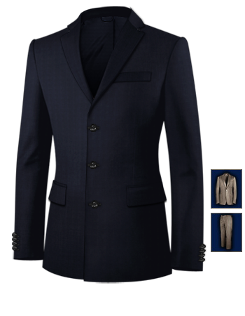 3 Piece Suits To Buy Ayrshire with 3 Buttons, Single Breasted