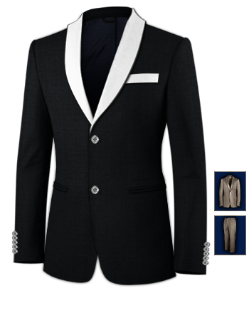 Cheap Suits For Men with 2 Buttons, Single Breasted