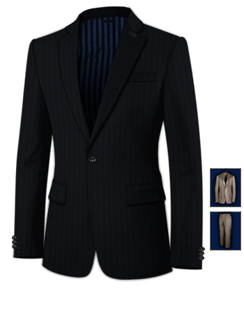 Cheap Tailored Suits with 1 Button, Single Breasted